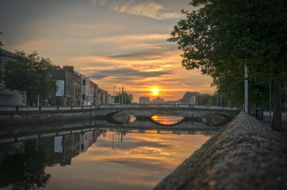 Morning over the river Liffey